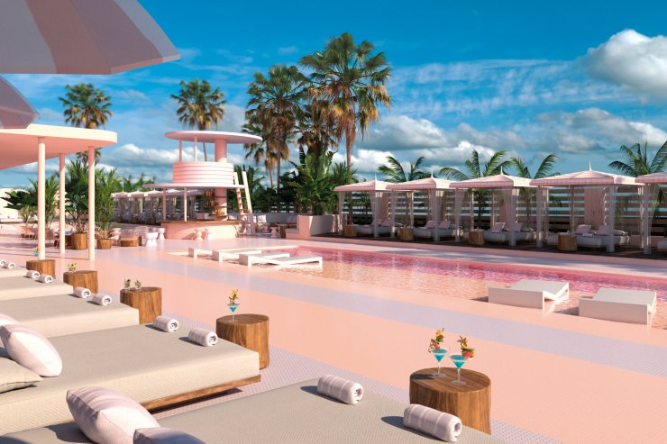 Pretty in pink at the Paradiso Ibiza Art Hotel