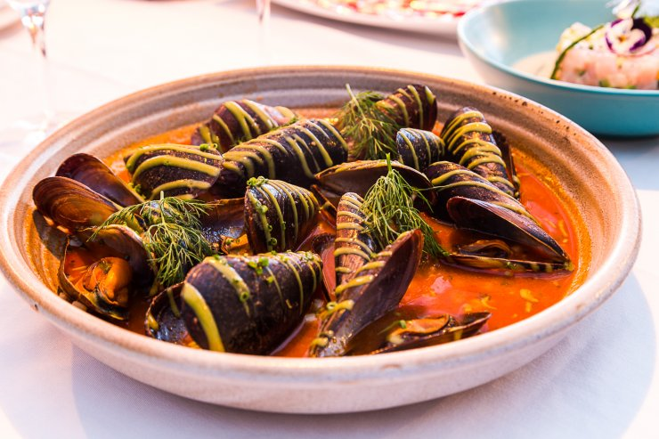 Mussels with haute cuisine finesse at Cala Bonita Ibiza
