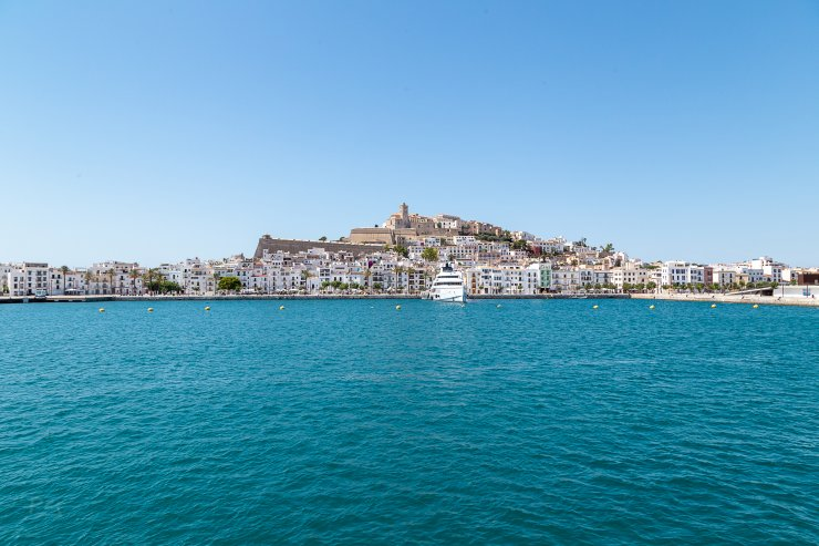 View of Ibiza Port from Aquabus Ferry