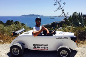 Hotrod guided tour of Ibiza