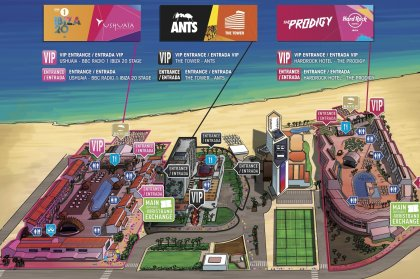 Creamfields Ibiza set times and site map