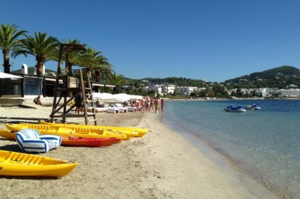 Winter beach activities in Ibiza
