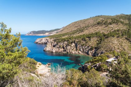 Glorious seclusion at Cala d'en Serra beach