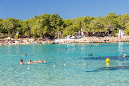 The clear beauty of of Cala Bassa