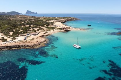 The stunning beaches of Cala Conta