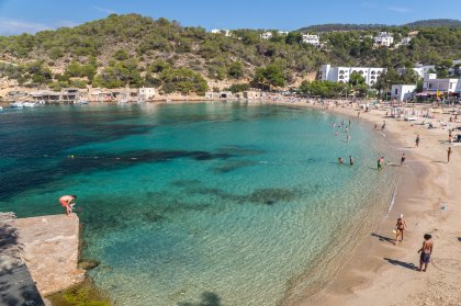 The spectacular beach of Cala Vadella