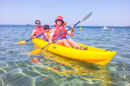 Touring the coast with Kayak Ibiza