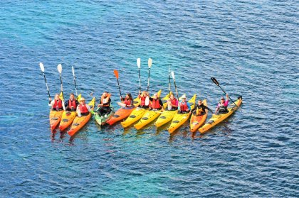 A winter coastal tour with Kayak Ibiza