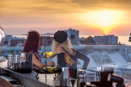 Cocktails and sunsets at Sol House Ibiza