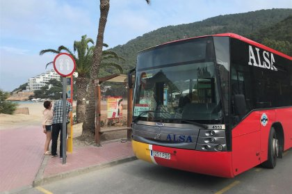 Going to an Ibiza beach - take the bus!