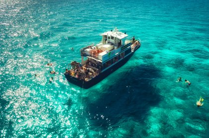 An Aquabus around the island tour of Ibiza