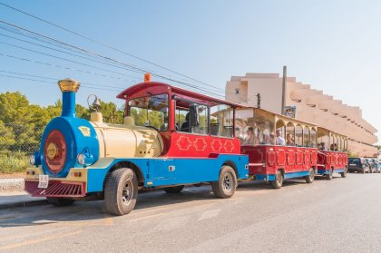 Taking the Tourist Train around Ibiza's north