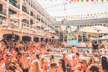 One Big Getaway pool party at Ibiza Rocks Hotel