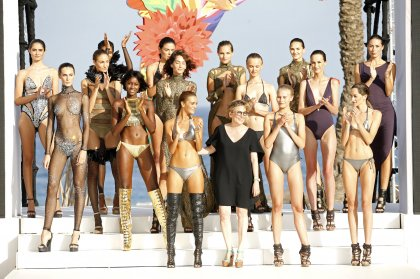 High fashion on the catwalk at Ushuaïa