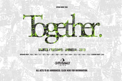 Preview and Early Bird Tickets: Together at Amnesia