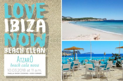 Beach cleaning action at Cala Nova