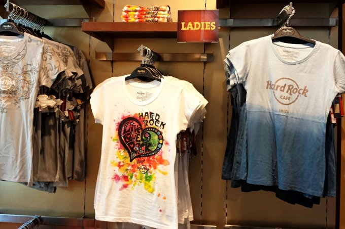 Hard Rock Cafe, Ibiza -  on site shop